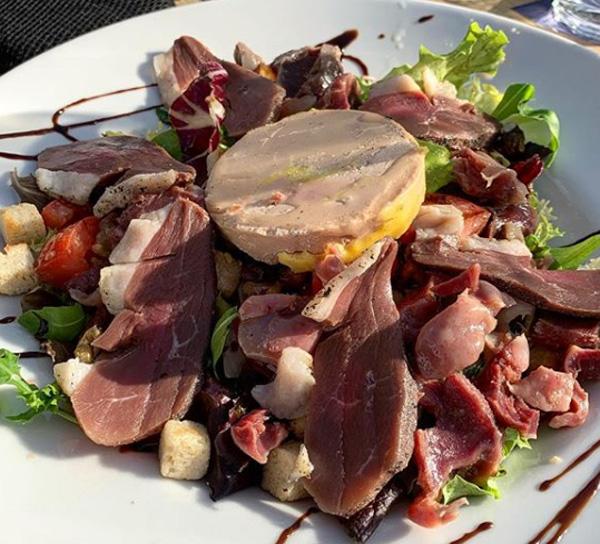 café de la Plage-Hendaye-salade du jour