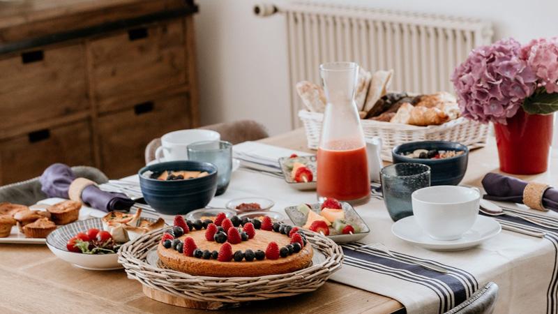 Moulin des sens-table d'hôtes-petit déjeuner