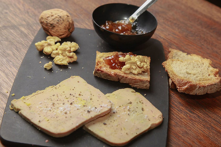 Confit d'Ascain-foie gras et chutney de figue