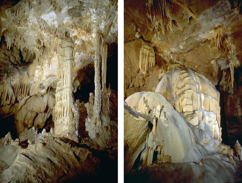Grotte d'Oxocelhaya-concrétions-Pays basque