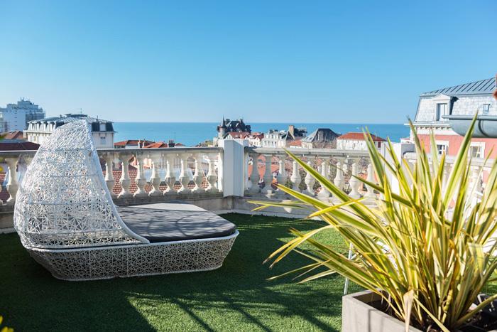 Hotel de Silhouette-terrasse panoramique-Biarritz
