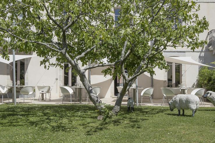 Hotel restaurant de Silhouette-terrasse-Biarritz