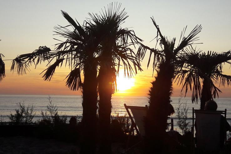 Coucher de soleil sur la côte basque-septembre