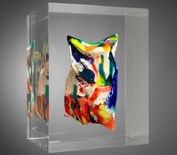 Fanfan-compression polymère-artiste coloriste plasticienne-Biarritz