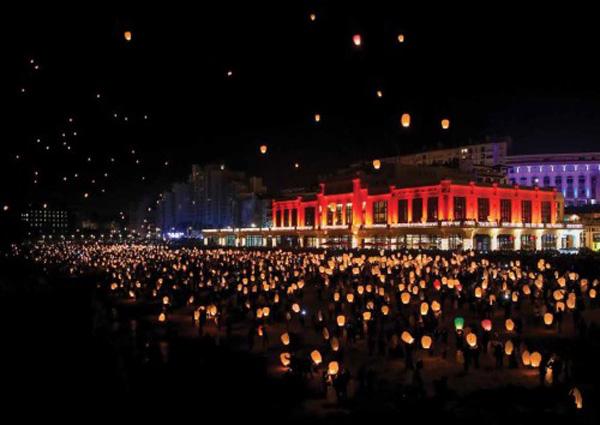 Biarritz en Lumières-Pays Basque-Lâcher de lanternes celestes
