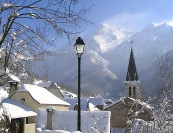 Gourette-Village de Aas sous la neige-64