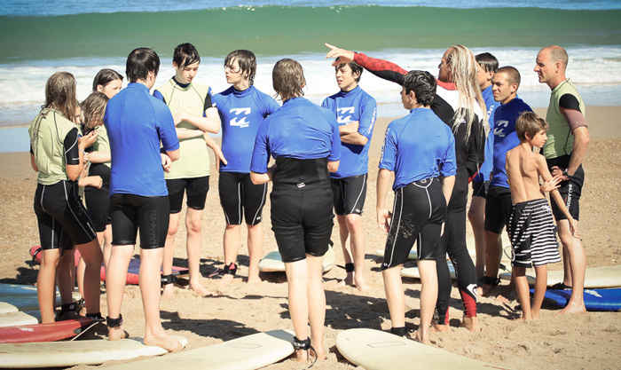 Jeff Bernard-cours surf-Biarritz