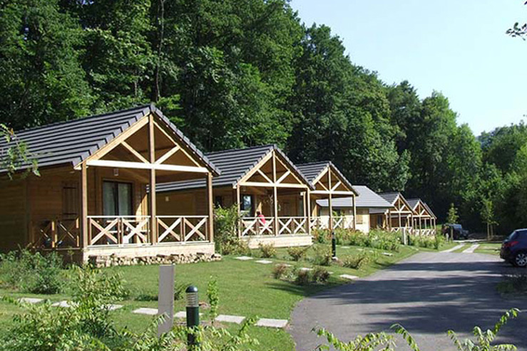 Camping Baretous Pyrénées-Aramits-chalets locatifs