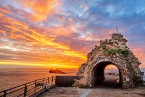 Biarritz coucher de soleil