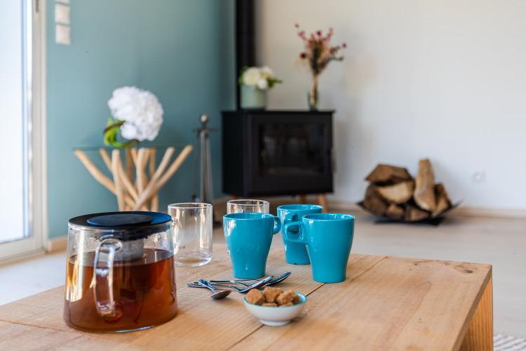 Tasses de thé pour accueillir les locataires