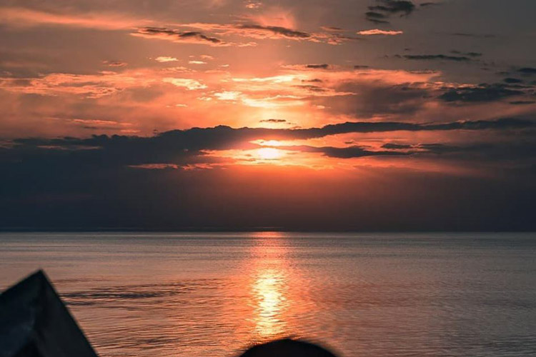 Plage de Tarnos-coucher de soleil