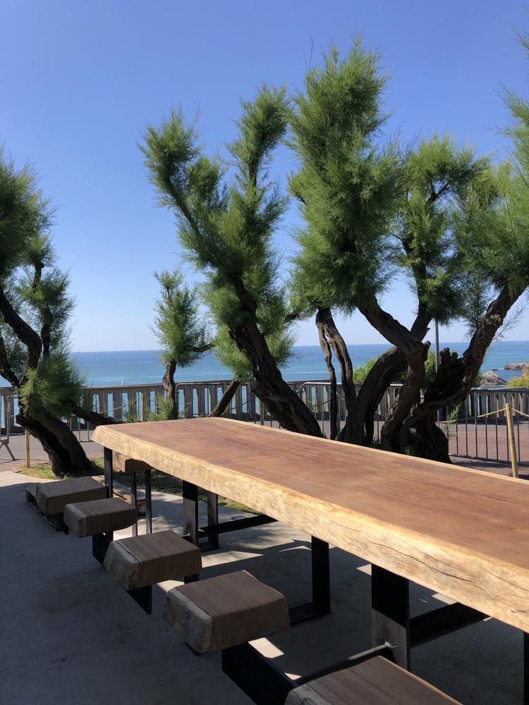 table chez Etxola Bibi