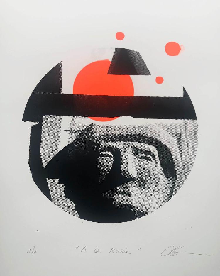 Sérigraphie thème sculpture