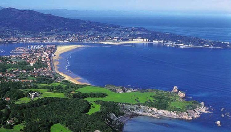 Vue de la ville Hendaye Pays Basque Vacances