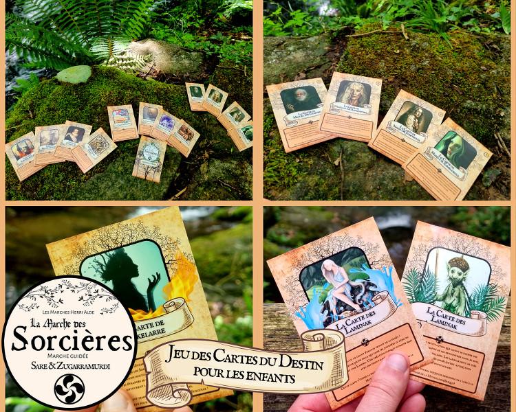 cartes pour les enfants distribuées dans le cadre de la Marche des sorcières