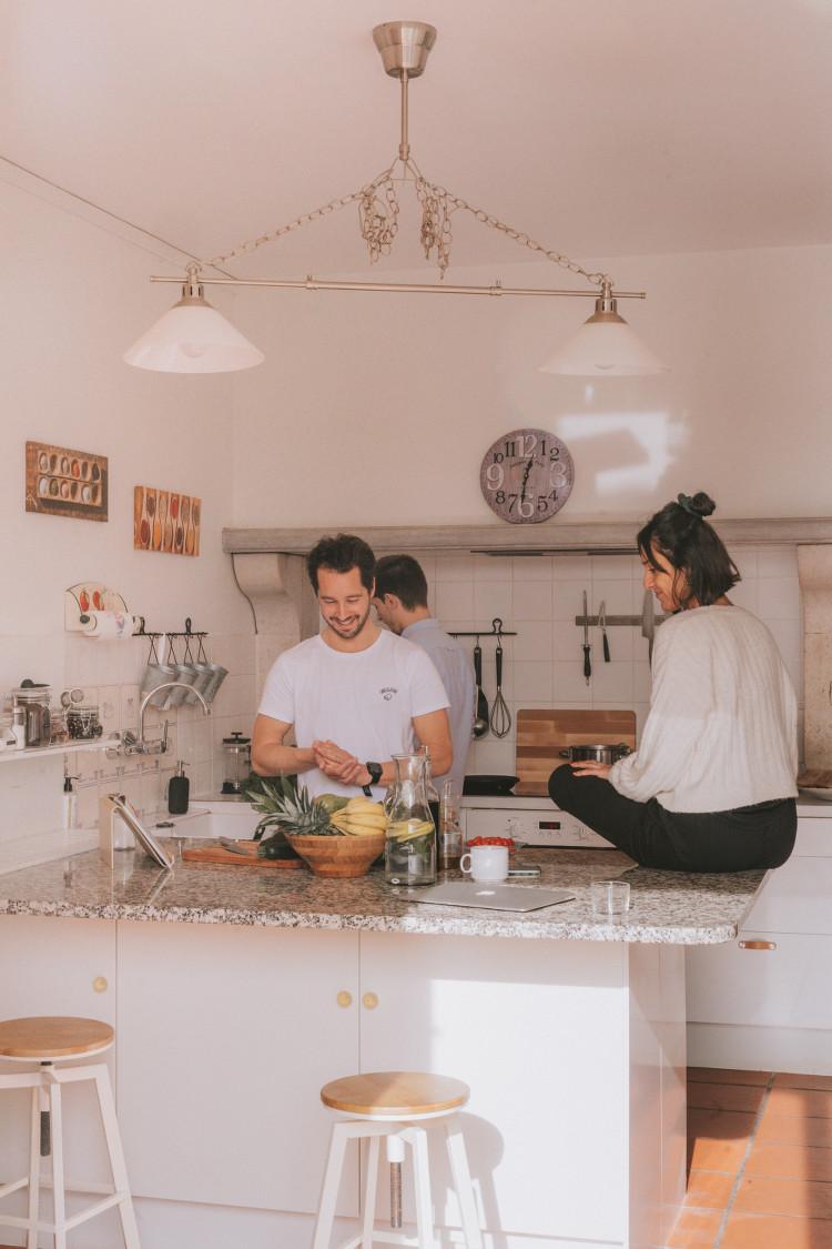 Cuisine commune de la villa Outsite Bidart