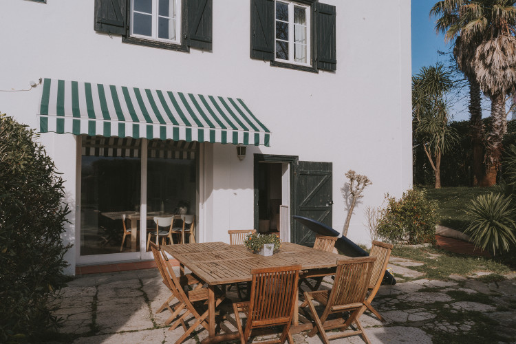 Salon de jardin de la villa Outsite Bidart