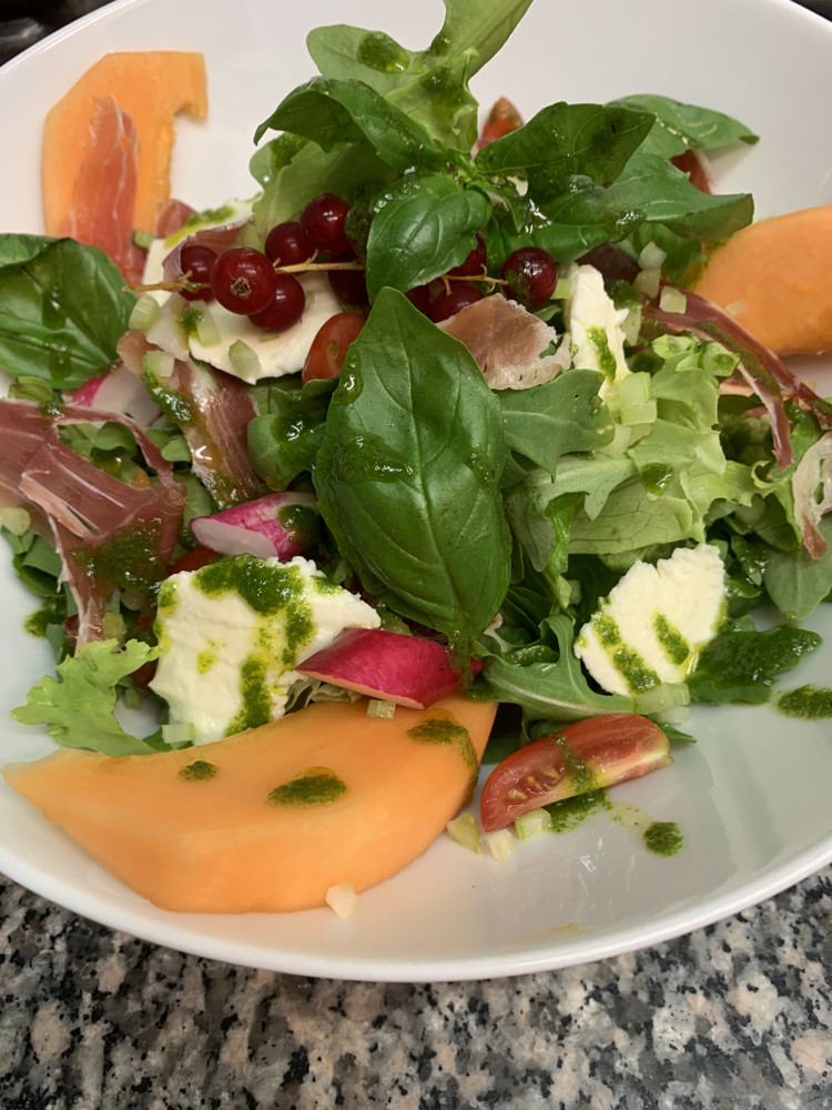 salade melon de chez Pizza Giorgio