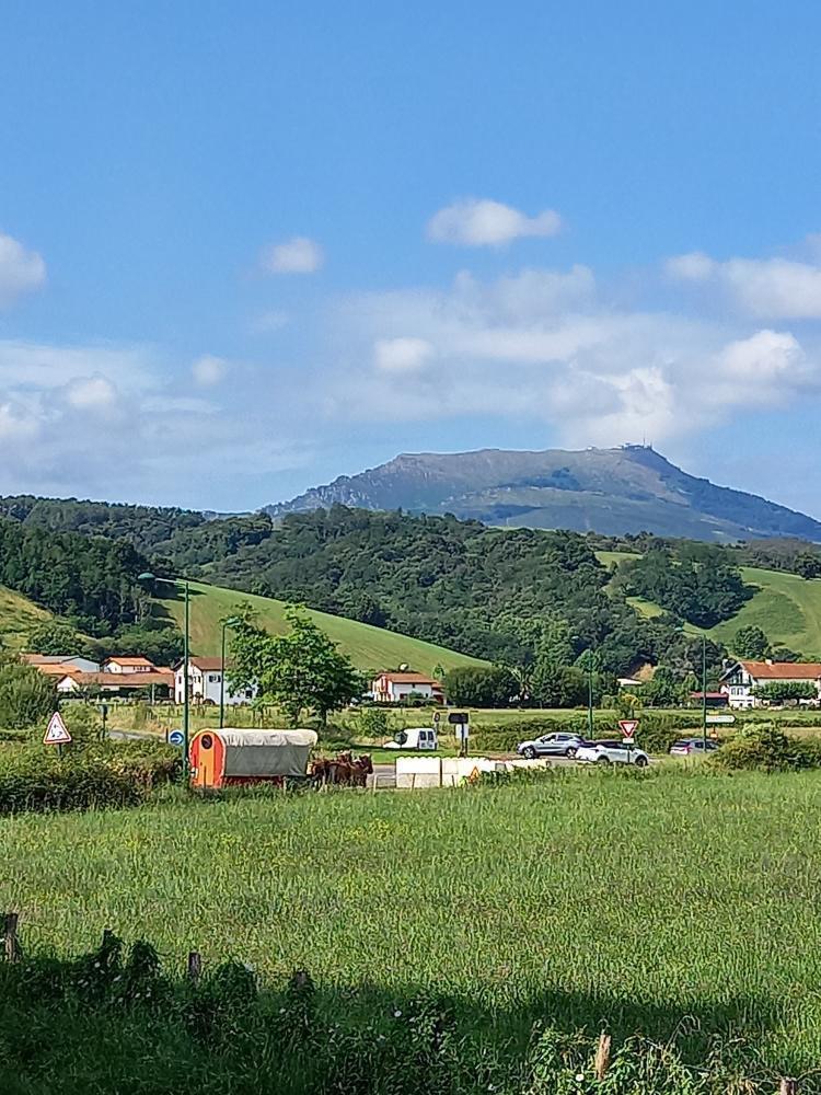Paysage basque de montagne