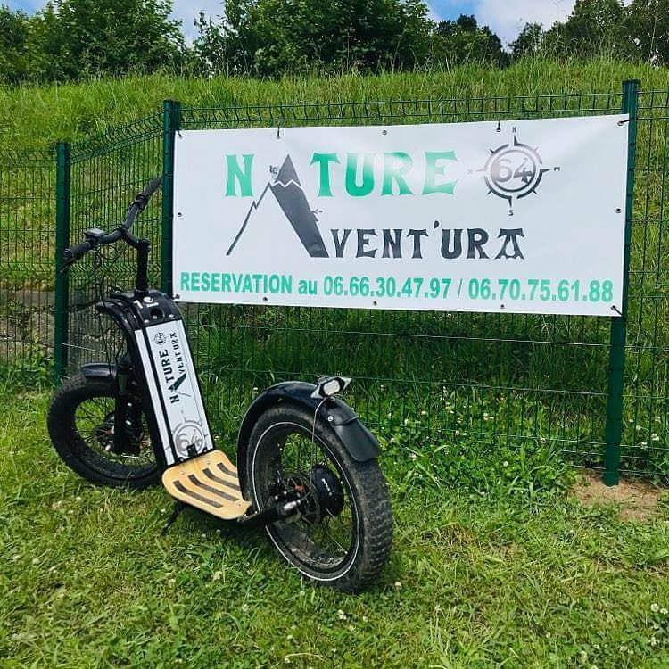 Une trottinette électrique tout-terrain de chez Nature Avent'ura 64