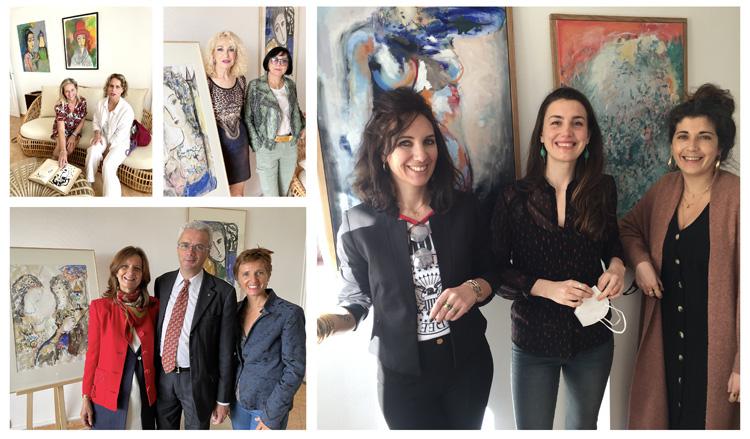 Résidence Galerie - Vernissage et visiteurs