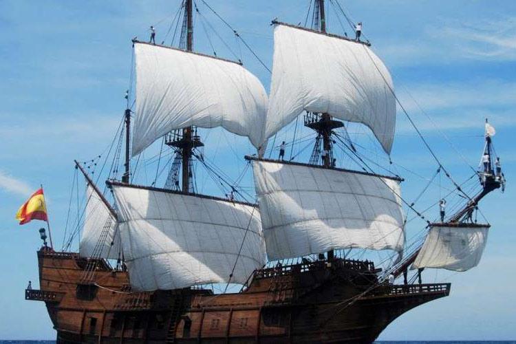 Vue du voilier Gaelon, de passage à Bayonne week-end du 11 septembre